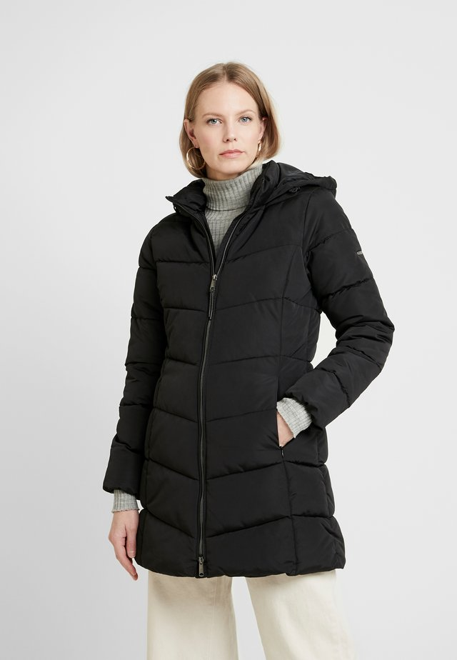 CASUAL PUFFER COAT - Płaszcz zimowy - black