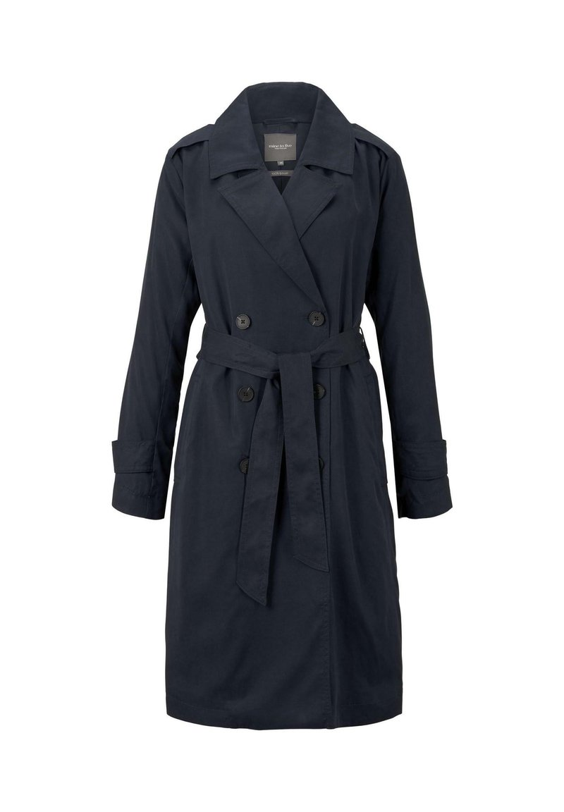 mine to five TOM TAILOR - TENCEL TRENCHCOAT - Trenchcoat - sky captain blue