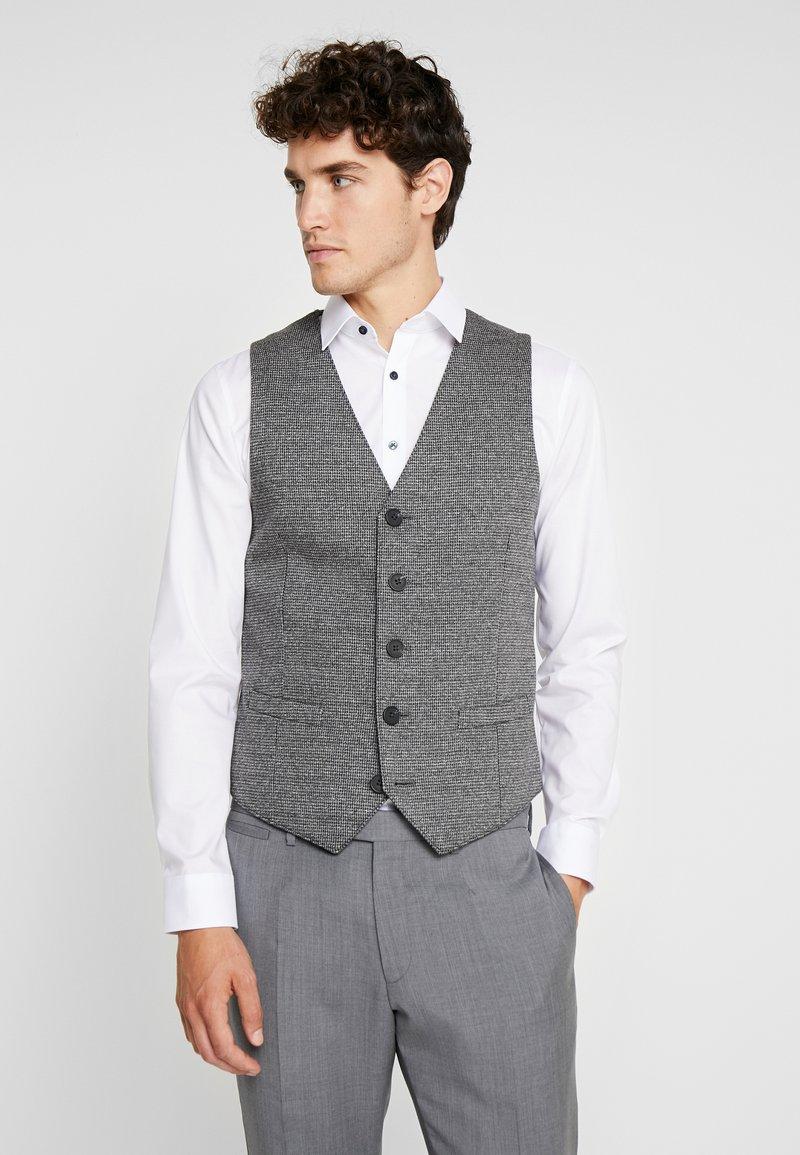 TOM TAILOR - HOUNDSTOOTH - Waistcoat - grey
