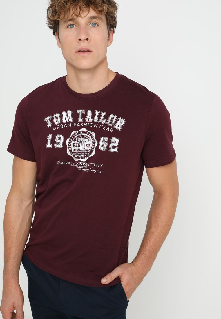 TOM TAILOR - NEW LOGO - T-Shirt print - gipsy purple
