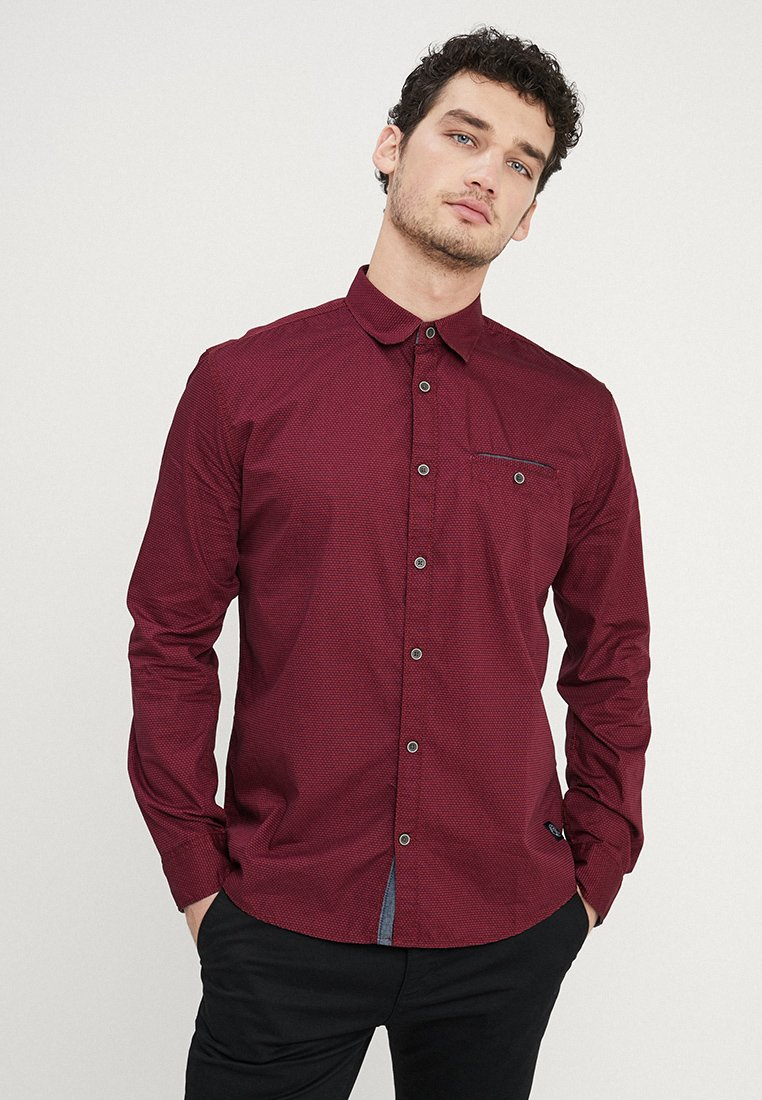 TOM TAILOR - RAY - Shirt - dark red brown