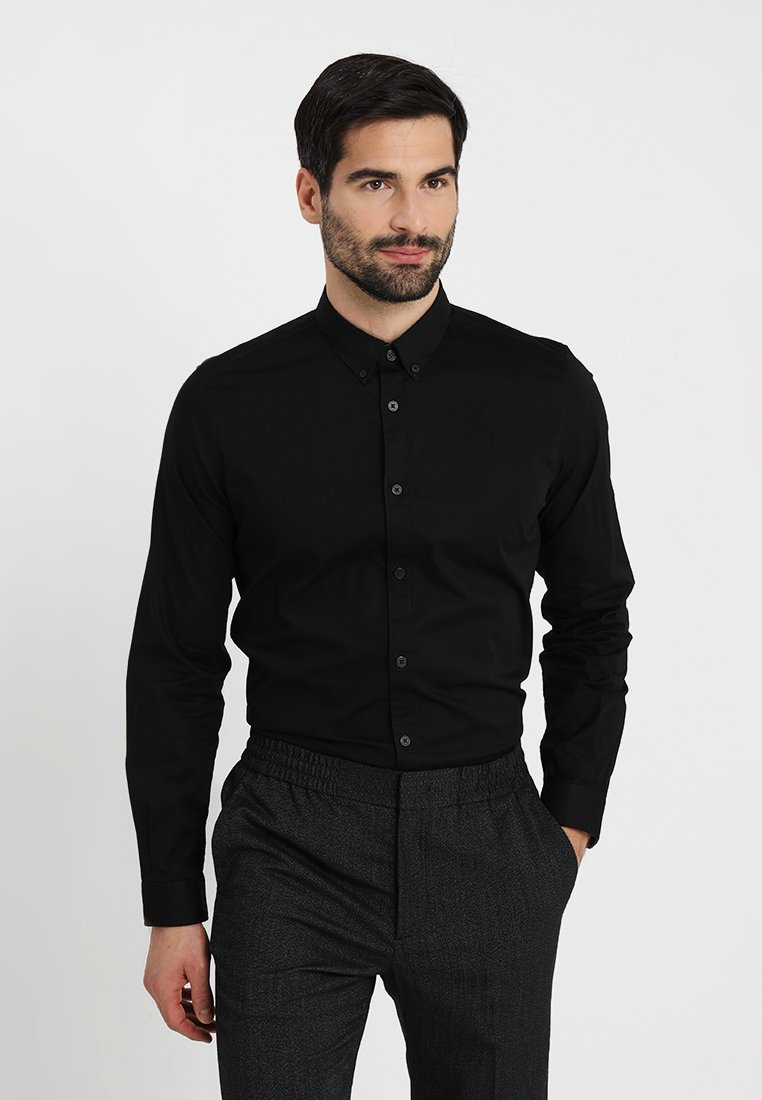 TOM TAILOR - FLOYD BASIC - Skjorta - black