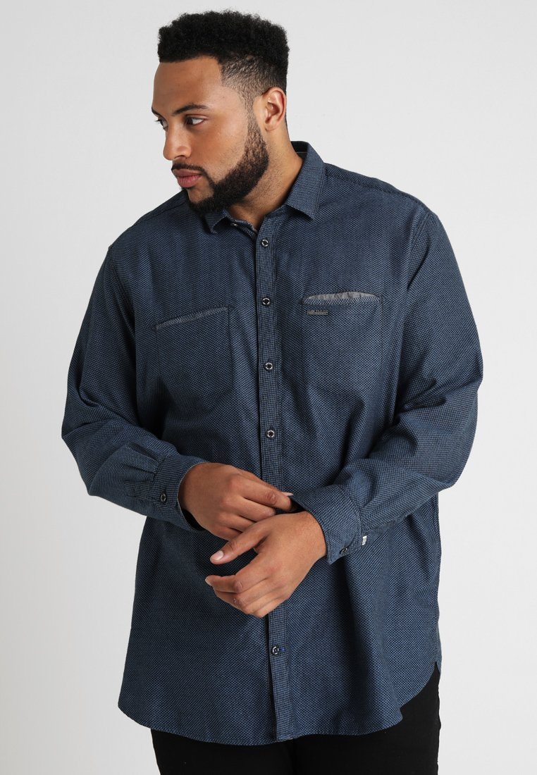 TOM TAILOR - RAY STRUCTURED DETAIL - Shirt - black/blue