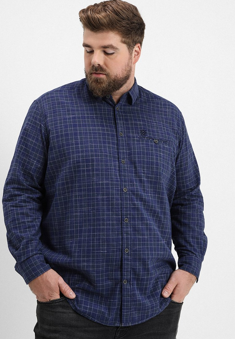 TOM TAILOR - RAY INJECT CHECK - Camisa - blue/grey