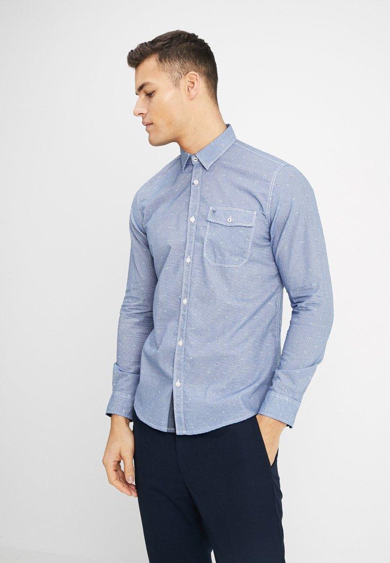 TOM TAILOR - RAY STRIPE SHIRT - Shirt - blue