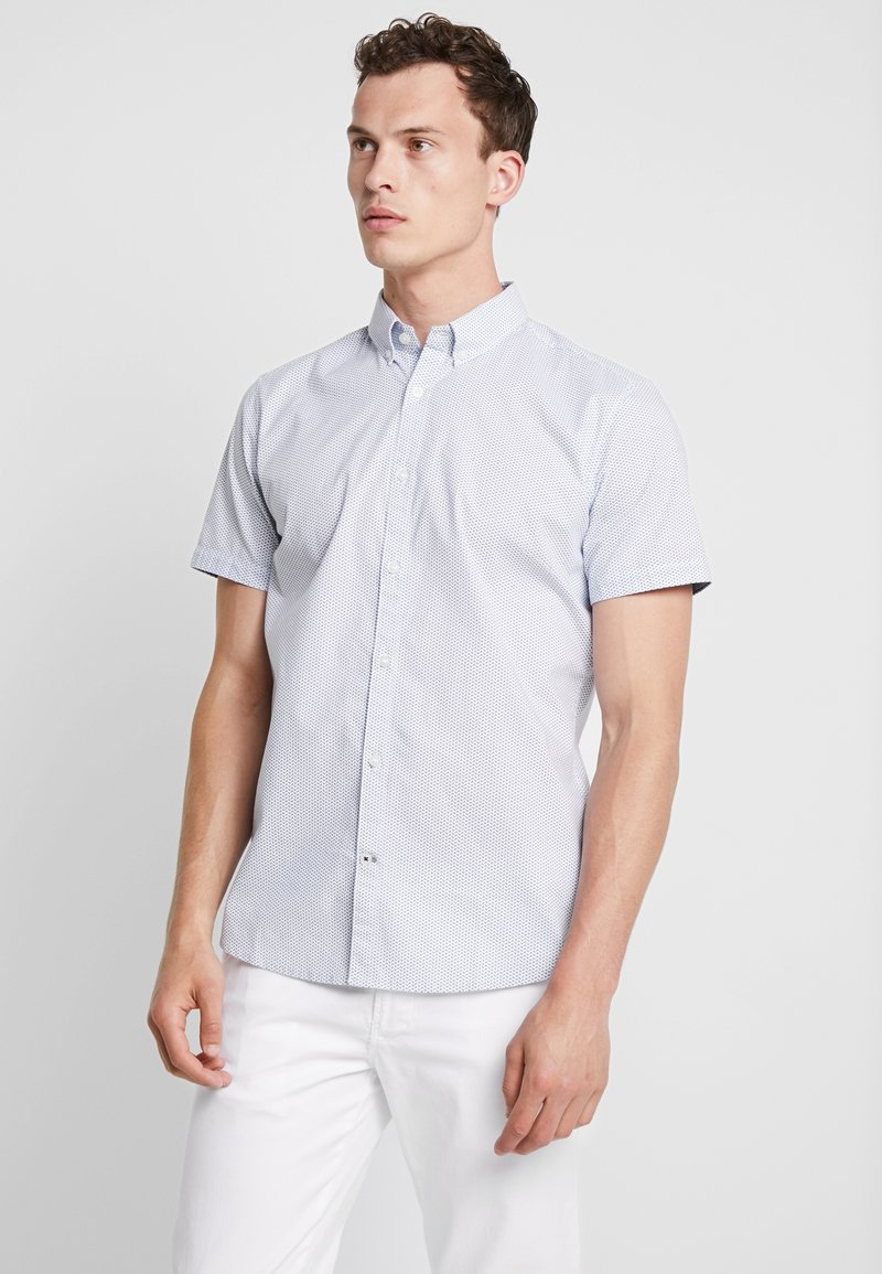 TOM TAILOR - FLOYD PRINTED - Skjorter - blue white geometrical