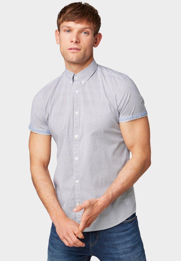 TOM TAILOR - FLOYD PRINTED - Shirt - navy brown