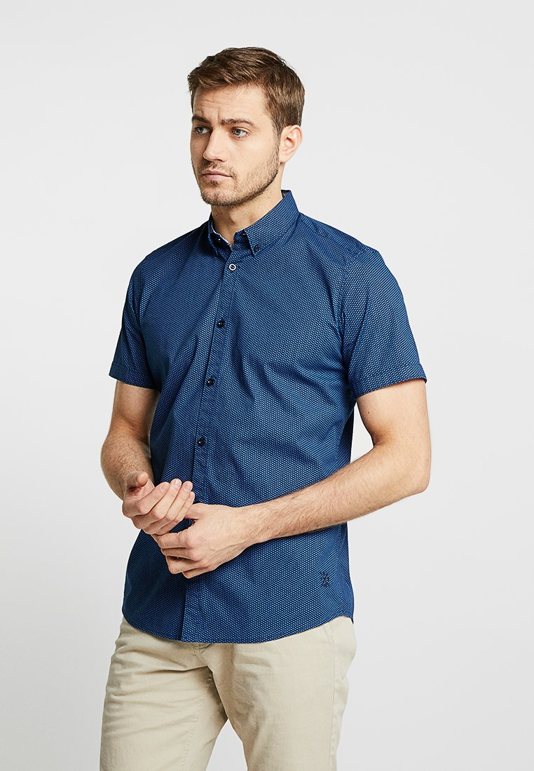 TOM TAILOR - FLOYD PRINTED - Overhemd - navy blue geometrical