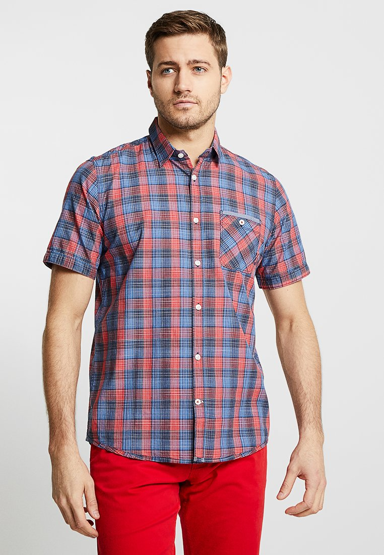 TOM TAILOR - CHECK PACKAGE SHIRT - Hemd - blue/red