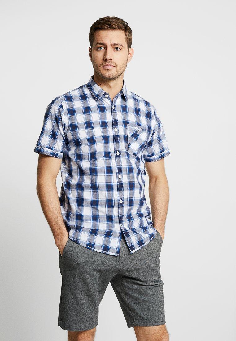 TOM TAILOR - CHECK PACKAGE SHIRT - Skjorter - white base/blue shade