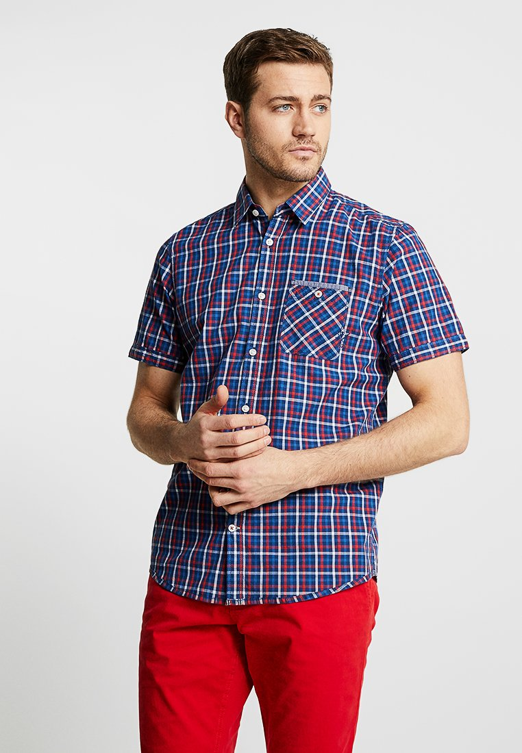 TOM TAILOR - CHECK PACKAGE SHIRT - Skjorter - blue/red