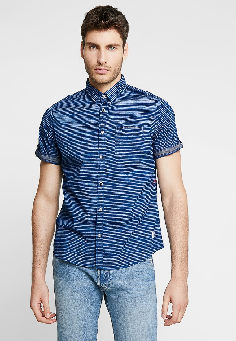 TOM TAILOR - RAY BLURRY - Shirt - blue/white