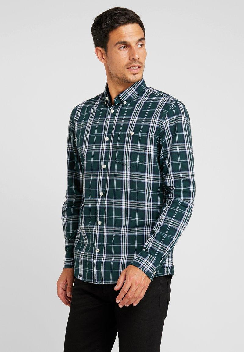 TOM TAILOR - RAY SLUB CHECK REGULAR FIT - Skjorter - green/navy