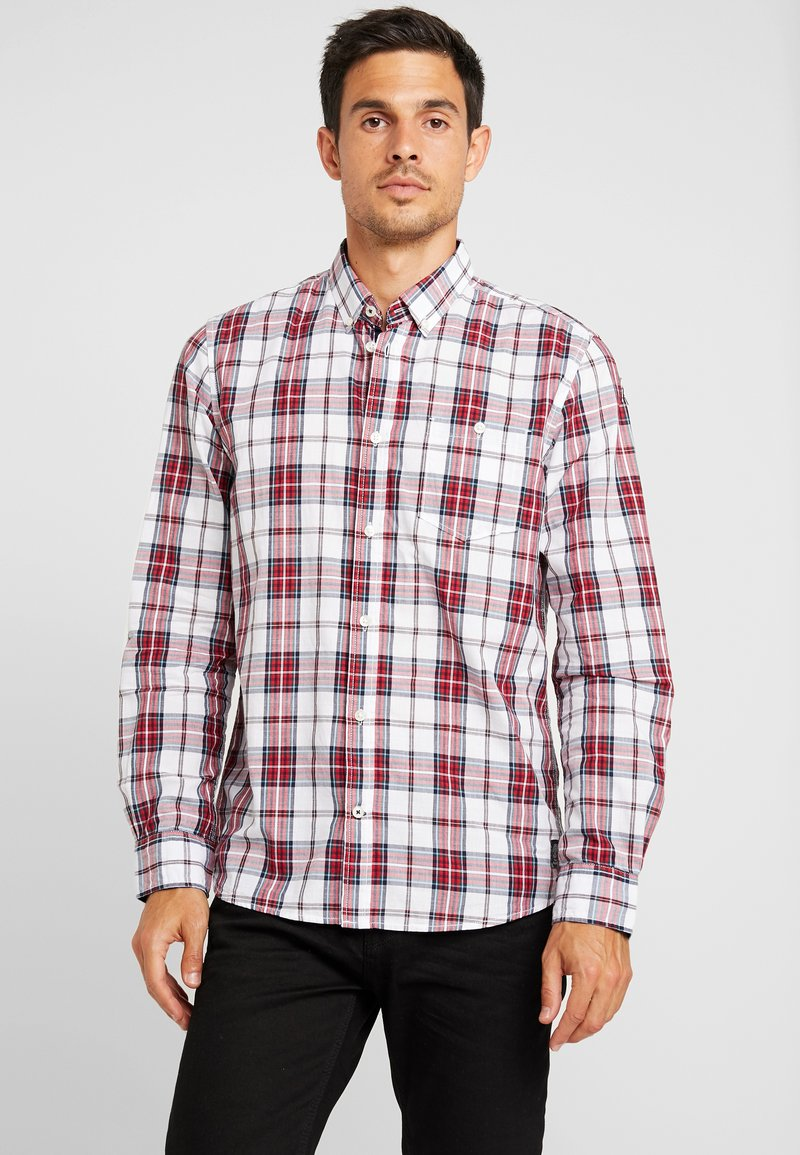 TOM TAILOR - RAY SLUB CHECK REGULAR FIT - Shirt - red
