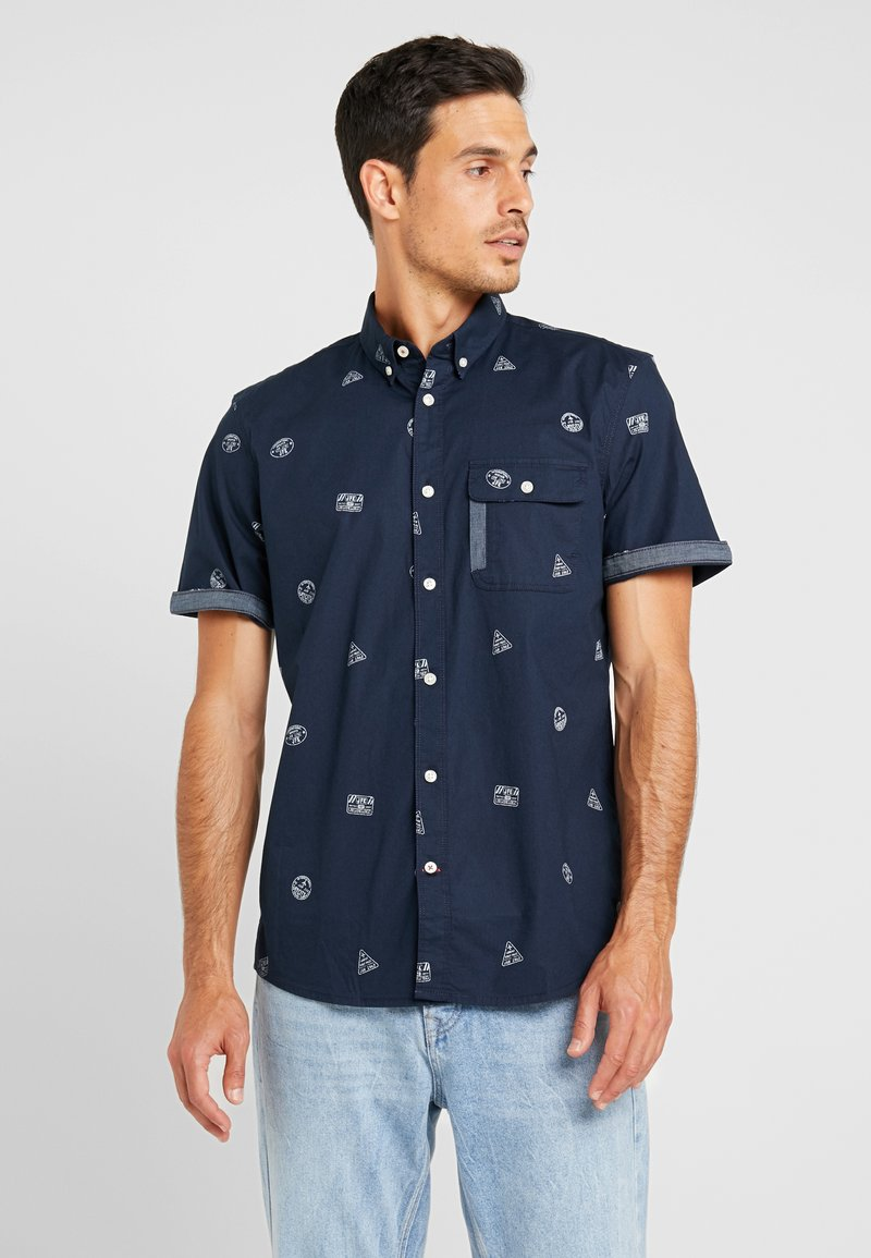 TOM TAILOR - RAY CONVERSATION - Shirt - blue travel stamp