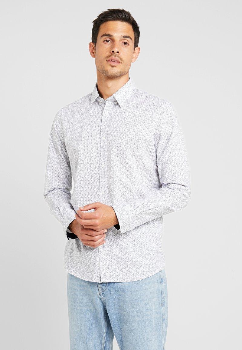 TOM TAILOR - RAY MINI PRINT REGULAR FIT - Skjorta - light blue