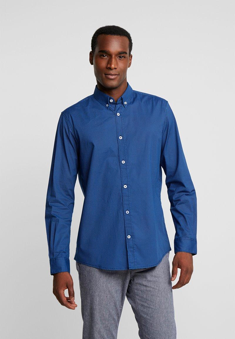 TOM TAILOR - RAY MINI PRINT REGULAR FIT - Skjorta - geometrical blue