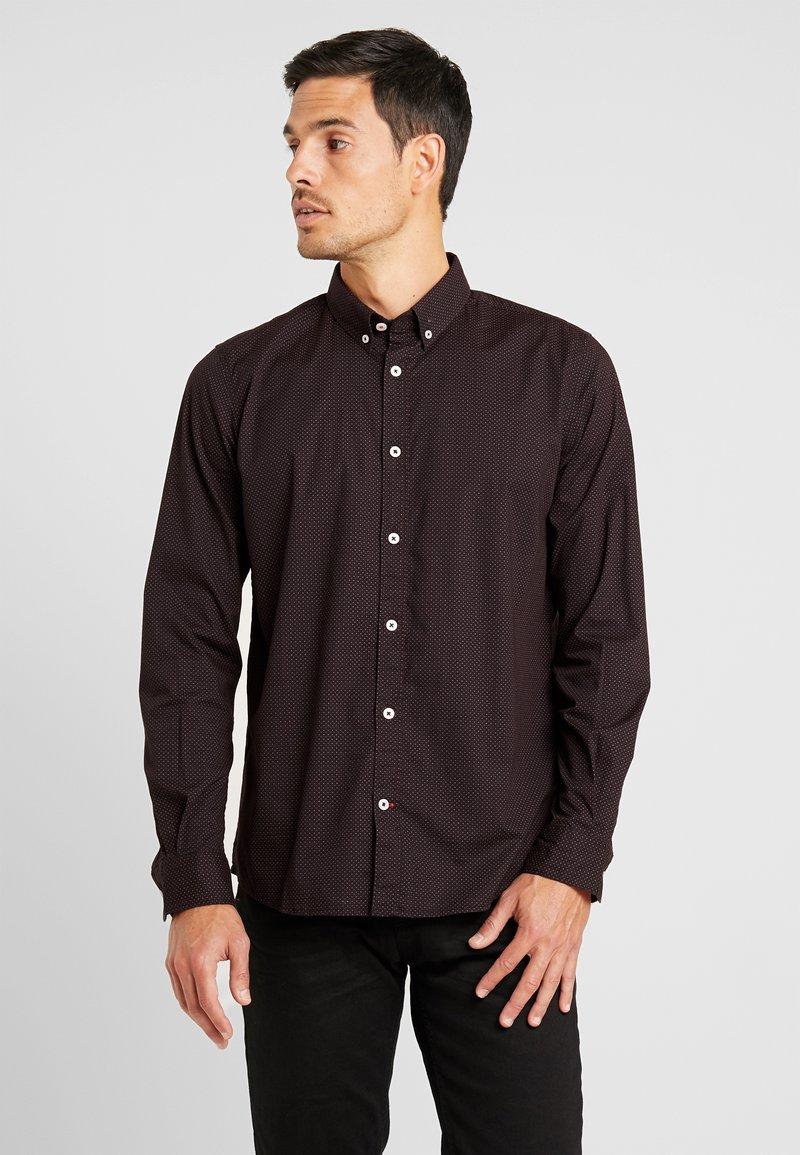 TOM TAILOR - RAY MINI PRINT REGULAR FIT - Skjorta - black/red/grey
