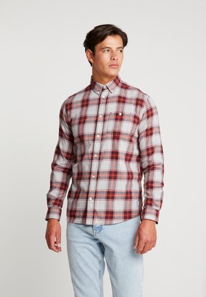 RAY BARBER  - Chemise - burgundy navy fil a fil check red