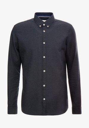 FLOYD PINPOINT DOBBY - Hemd - black/blue/white