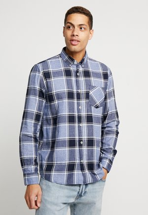 RAY GRINDLE CHECK - Camicia - blue navy