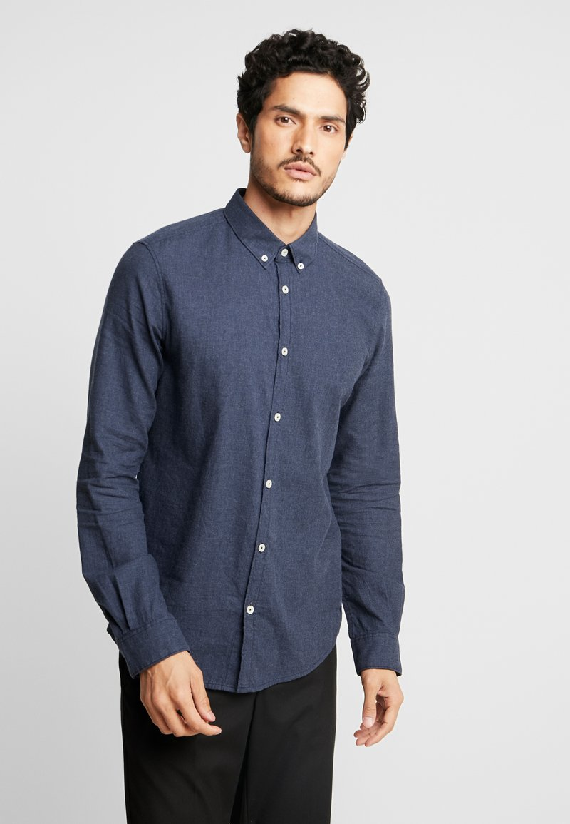 TOM TAILOR - RAY - Skjorta - dark denim blue melangy