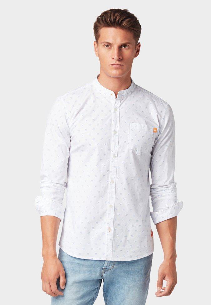TOM TAILOR - MIT PRINT - Hemd - white