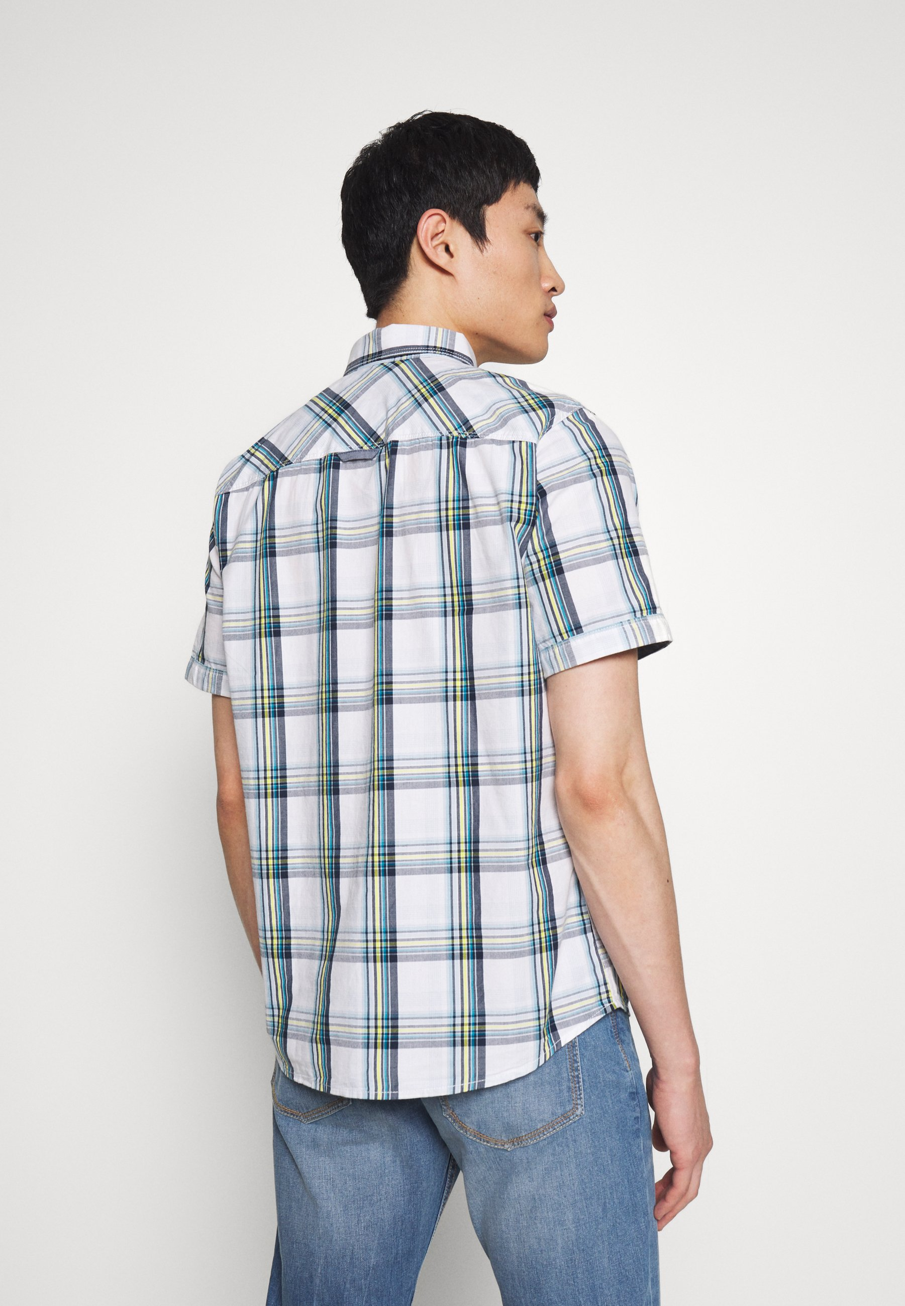 Tom Tailor Ray Colourful Check Package - Camicia White Base/blue tsLlb