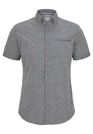Shirt - navy white scattered design