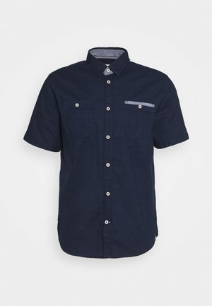 RAY SLUB DOUBLE POCKET - Skjorter - black iris blue