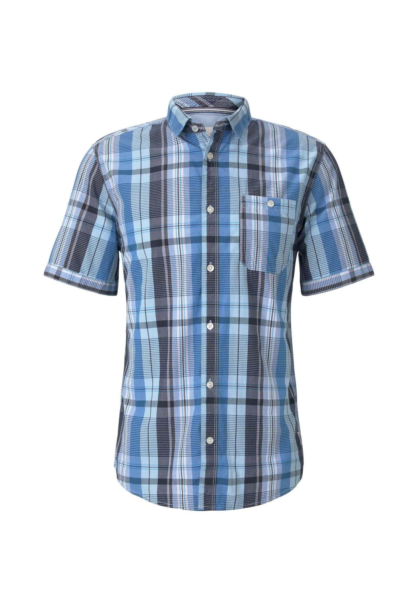 Tom Tailor Chemise - Blue Shades Colourful Check HS0gZSY