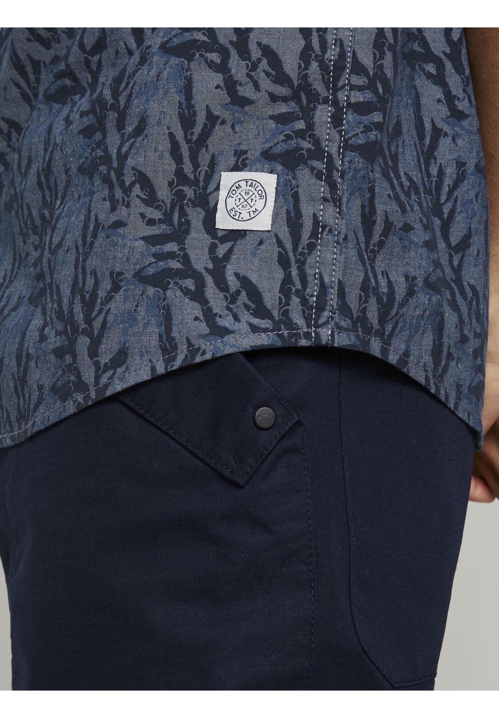TOM TAILOR Hemd - navy tonal abstact kelp design | Herrenbekleidung 2020
