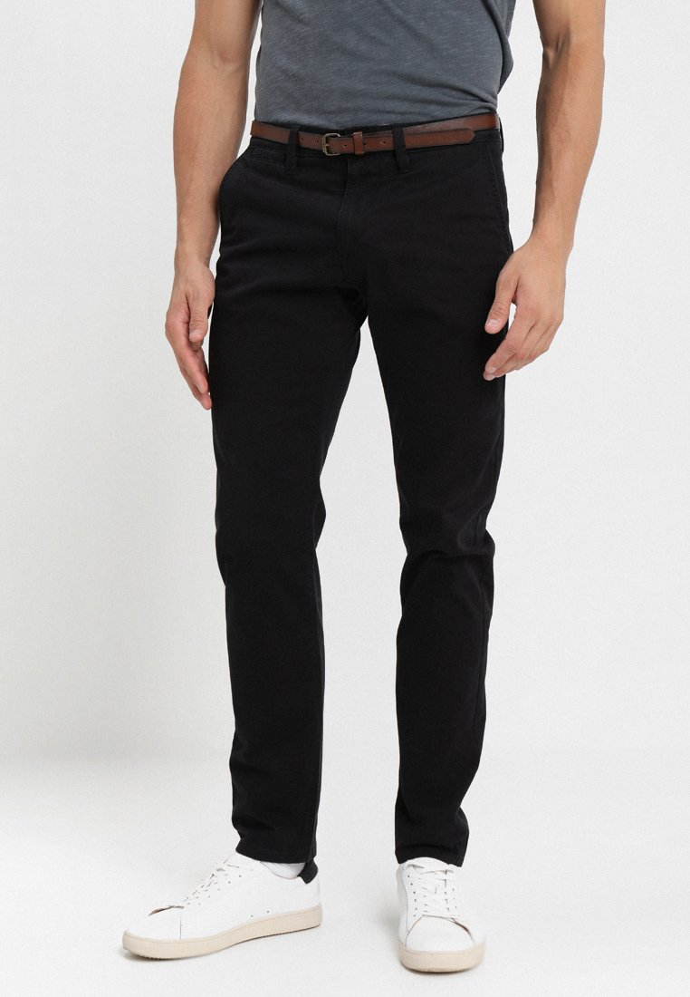 TOM TAILOR - ESSENTIAL  - Trousers - black