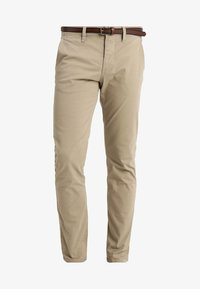 TOM TAILOR - ESSENTIAL SOLID - Trousers - chinchilla brown - 4
