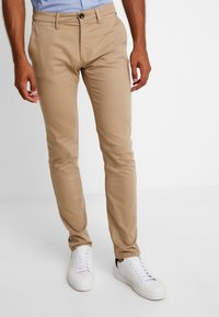 TOM TAILOR - WASHED STRUCTURE CHINO - Chino - beige - 0