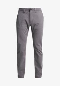 TOM TAILOR - WASHED STRUCTURE CHINO - Chinot - grey yarndye structure - 4