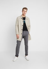 TOM TAILOR - WASHED STRUCTURE CHINO - Chinot - grey yarndye structure - 1