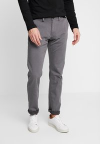 TOM TAILOR - WASHED STRUCTURE CHINO - Chinot - grey yarndye structure - 0