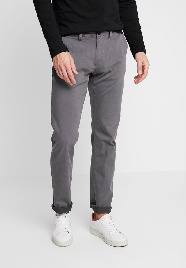 WASHED STRUCTURE CHINO - Chinos - grey yarndye structure