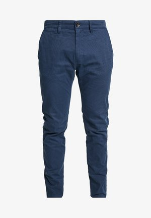 WASHED STRUCTURE CHINO - Chinosy - navy/blue
