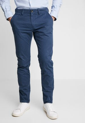 WASHED STRUCTURE CHINO - Chinot - navy/blue