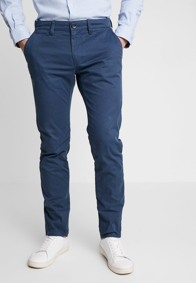 WASHED STRUCTURE CHINO - Chinos - navy/blue