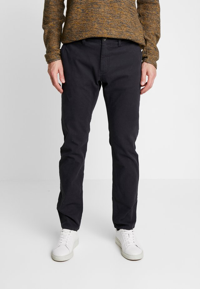 WASHED STRUCTURE CHINO - Chinos - dark grey