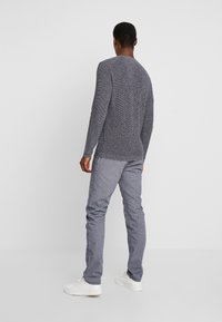 TOM TAILOR - WASHED STRUCTURE - Kalhoty - navy blue - 2
