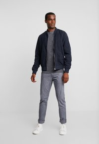TOM TAILOR - WASHED STRUCTURE - Kalhoty - navy blue - 1