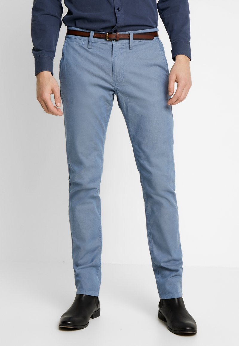 TOM TAILOR - WASHED STRUCTURE - Chino kalhoty - light blue