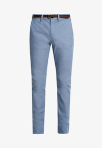 TOM TAILOR - WASHED STRUCTURE - Chino kalhoty - light blue - 4