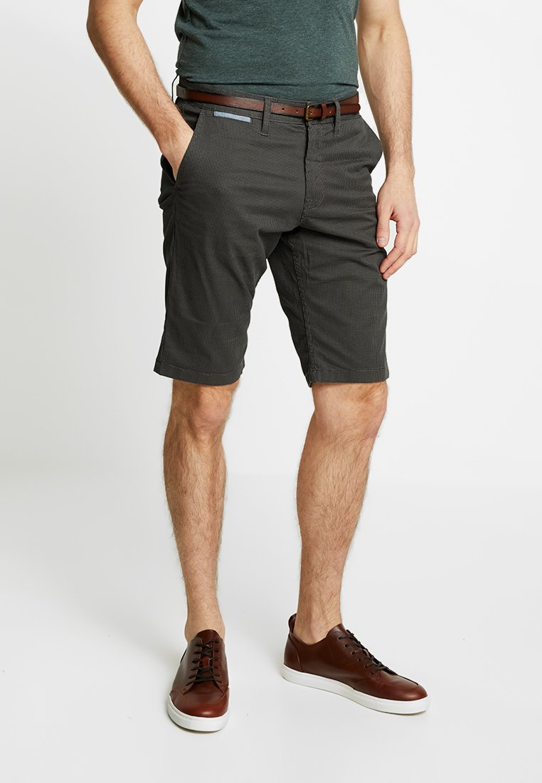 TOM TAILOR - ESSENTIAL - Shorts - grey houndstooth design