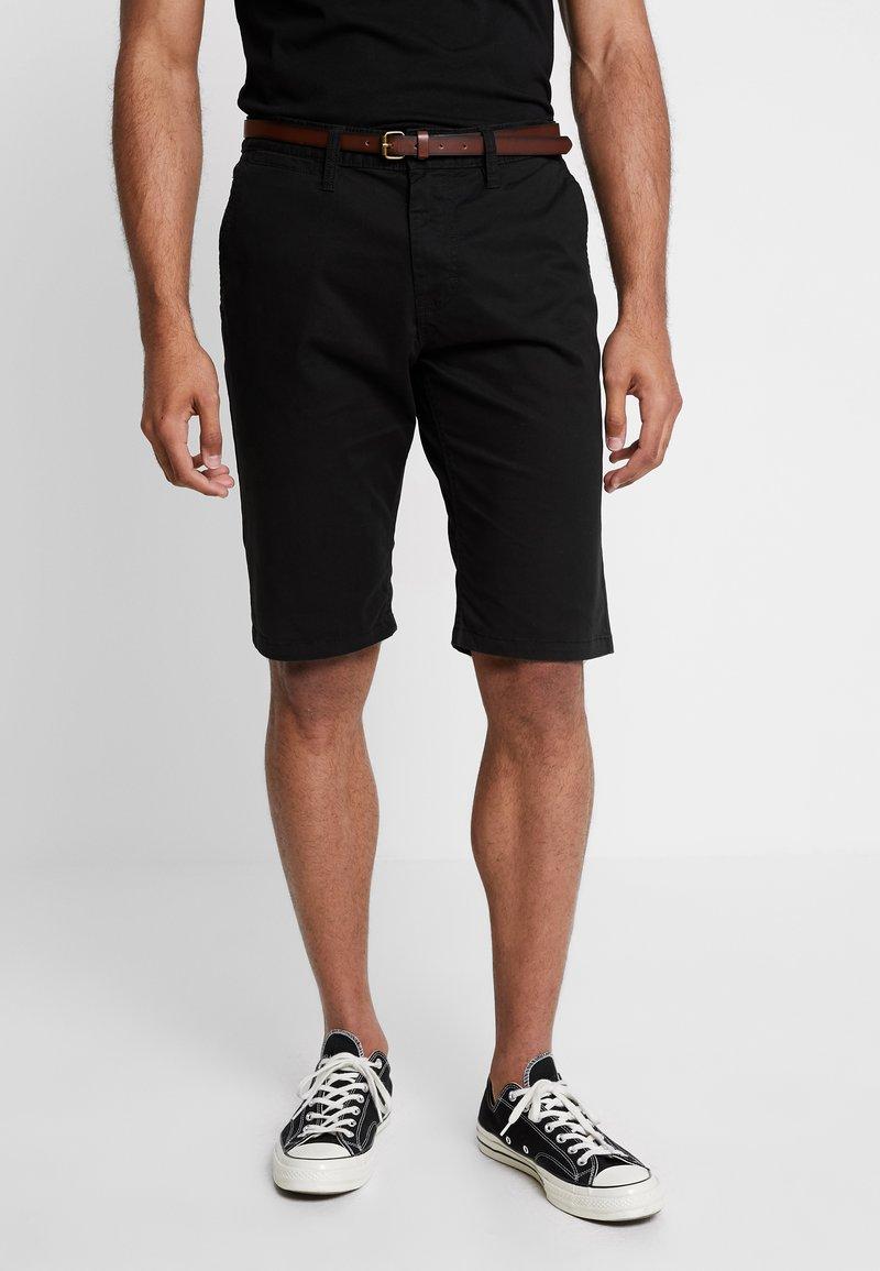 TOM TAILOR - ESSENTIAL - Shorts - black