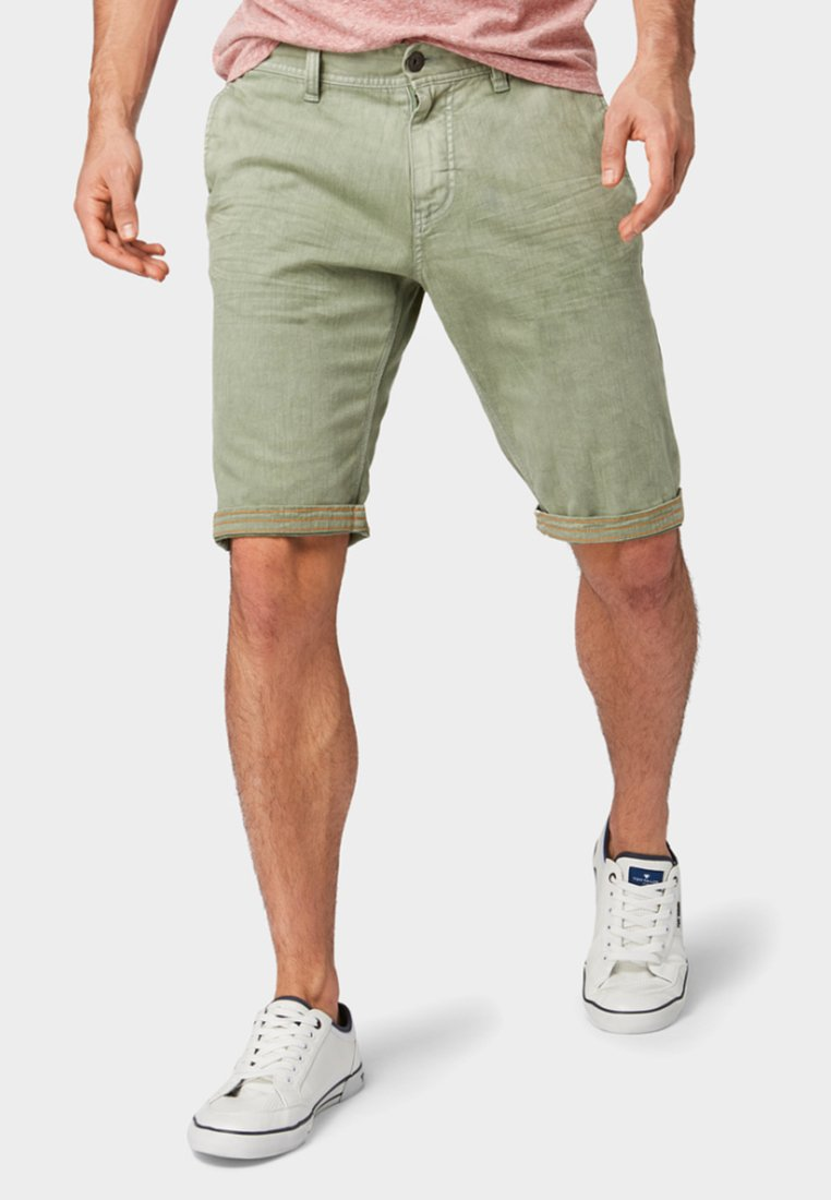 TOM TAILOR - JOSH REGULAR  - Denim shorts - green